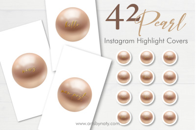 Pearl and gold Instagram highlight cover.