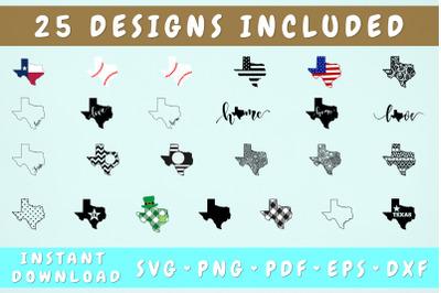 Texas SVG Bundle - 25 Designs