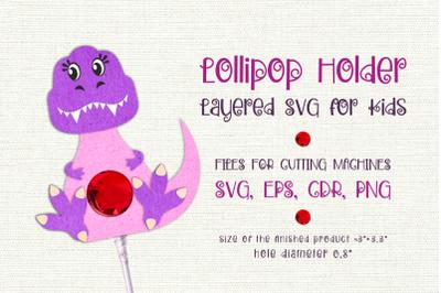 Tyrannosaurus-Lollipop Holder template SVG