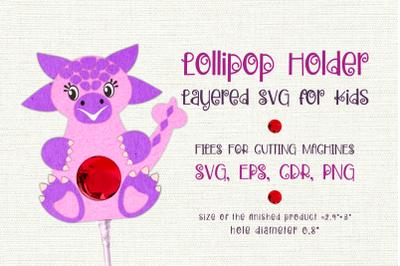 Ankylosaurus-Lollipop Holder template SVG