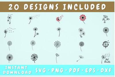 Dandelion SVG Bundle - 20 Designs, Just Breathe SVG