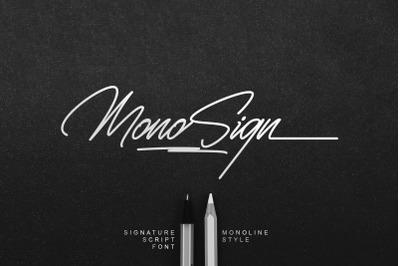 Monosign - Signature Script Font