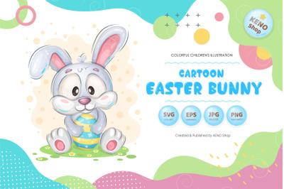 Cartoon Easter Bunny Clipart
