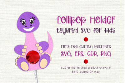 Diplodocus -Lollipop Holder template SVG