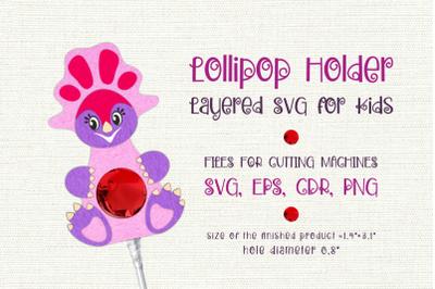 Montanoceratops -Lollipop Holder template SVG