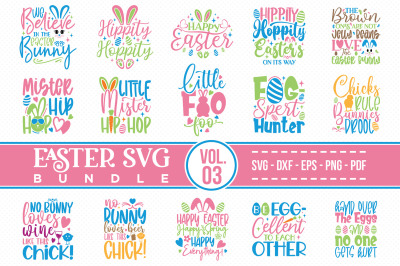 Easter SVG Bundle Vol.3, Easter Quotes SVG Cut files