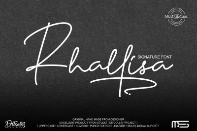 Rhallisa - A Signature Font