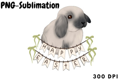Happy Easter Png | Bunny Sublimation