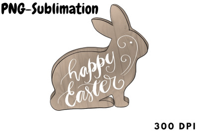 Happy Easter Png Sublimation | Bunny Rabbit Illustration