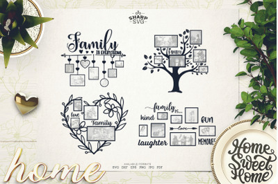 Family Collage SVG Bundle - Family Wall Decal SVG
