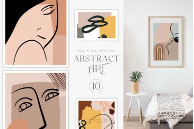 Abstract Art Posters Wall Art Bohemian Minimalist Posters JPEGs
