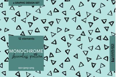 MONOCHROME sheamless pattern