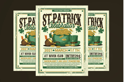 St Patrick Day Celebration Flyer