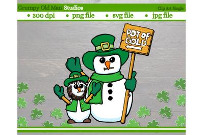Leprechaun Snowman | Saint Patrick's day