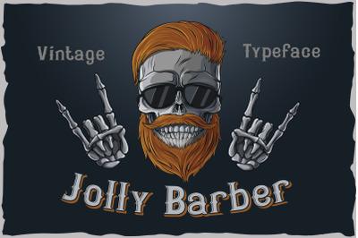 Jolly Barber. Vintage typeface