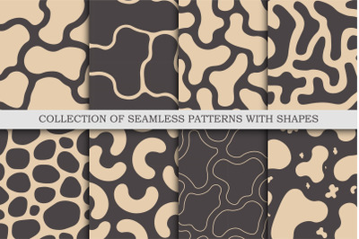 Vector seamless patterns with shapes