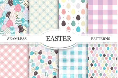 Collection of Easter seamless patterns