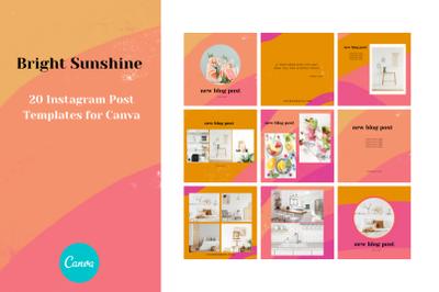 Bright Sunshine Instagram Post Canva