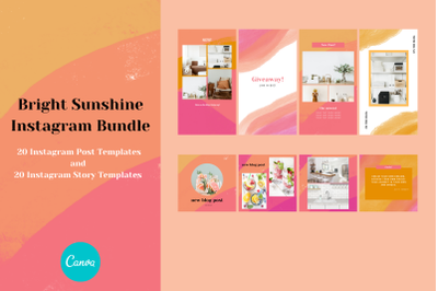 Canva Bundle - Bright Sunshine - Instagram