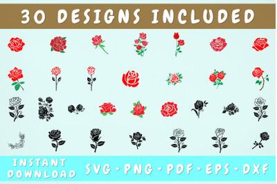 Rose SVG Bundle - 30 Designs