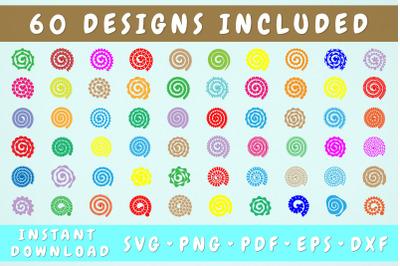 Rolled Paper Flower SVG Mega Bundle - 60 Designs