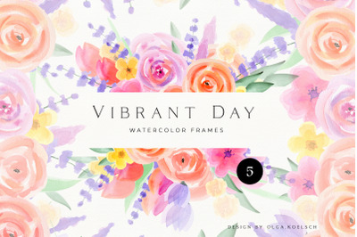 Watercolor floral frames clipart, Cute watercolor flowers  baby shower
