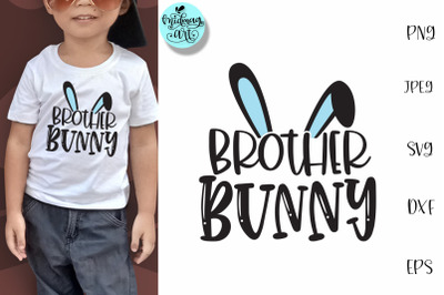 Brother bunny svg, easter svg
