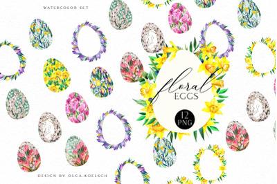 Watercolor Easter egg clipart, Easter cards diy,  Easter frames png