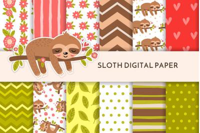 Sloth digital paper JPG 33