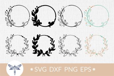 Floral wreath svg, wedding wreath svg clipart