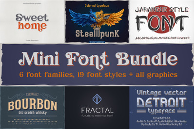 Mini font bundle + all bonus