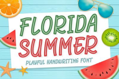 Florida Summer - Playful Display Font