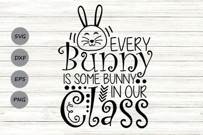 Every Bunny Is Some Bunny in Our Class Svg, Easter Svg, Easter Bunny.