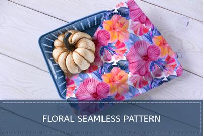 Mallow. Floral pattern.