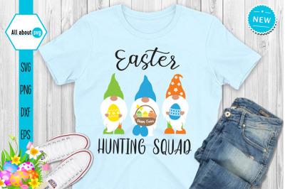 Easter Hunting Squad Svg. Easter Gnomes Svg