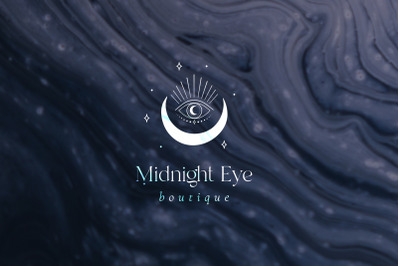 Midnight Eye Pre-Made Brand Logo Designs. Tattoo. Moon, Crescent, Luna