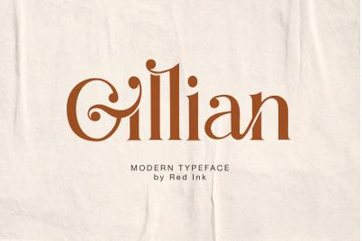 Gillian. Stylish Serif Ligature Font