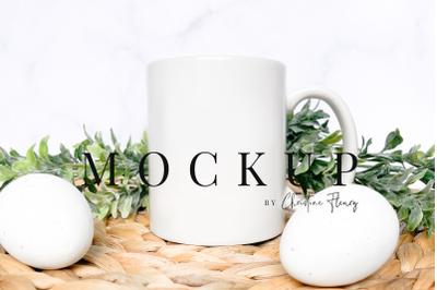 Minimal Easter Mug Mockup - Easter Mockup