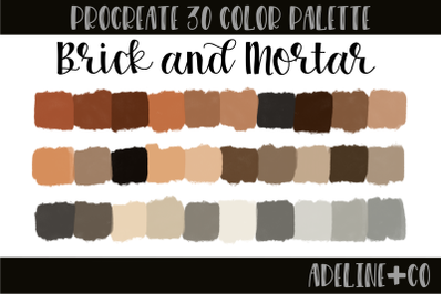 30 color Brick and Mortar palette