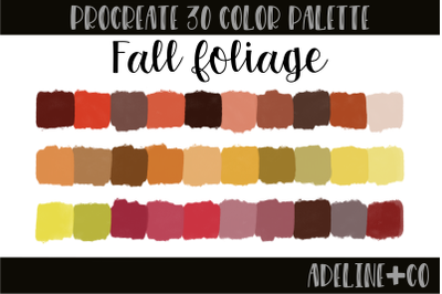 30 color Fall Foliage palette