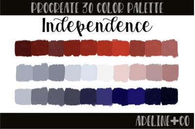 30 color Independence palette