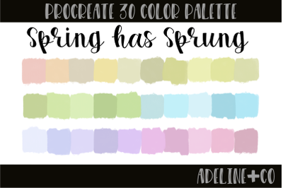30 color Spring Has Sprung palette