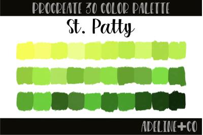 30 color St. Patty palette