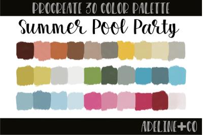 30 color Summer Pool palette