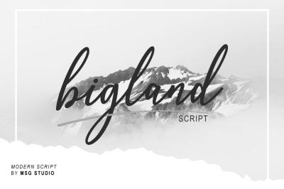 bigland Script