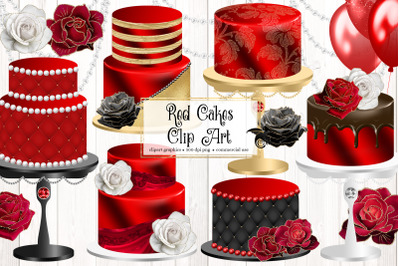 Red Cakes Clipart
