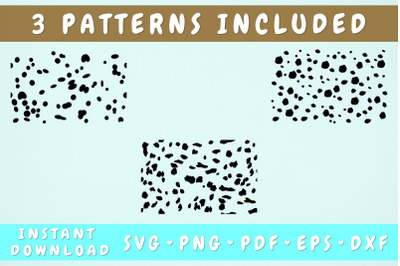 Dalmatian Spots SVG - 3 Patterns Included