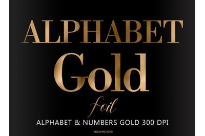Gold alphabet, gold