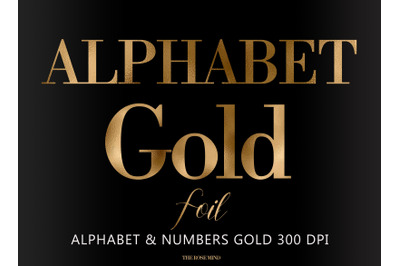 Gold letters,alphabet gold