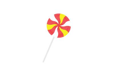amusement parks lollipops flat icon